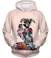OtakuForm-OP Zip Up Hoodie Hoodie / XXS Crazy Harley Quinn Villain Made by Joker Awesome Promo White Zip Up Hoodie