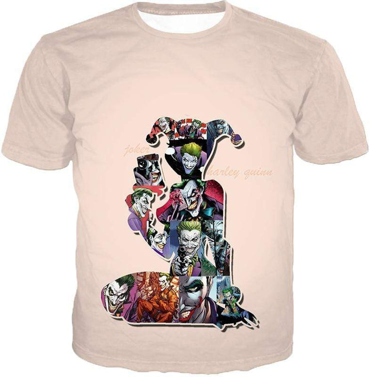 OtakuForm-OP Zip Up Hoodie T-Shirt / XXS Crazy Harley Quinn Villain Made by Joker Awesome Promo White Zip Up Hoodie