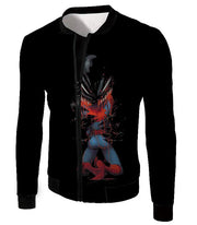 OtakuForm-OP T-Shirt Jacket / XXS Crazy Venom Feeding Spiderman Black Action T-Shirt
