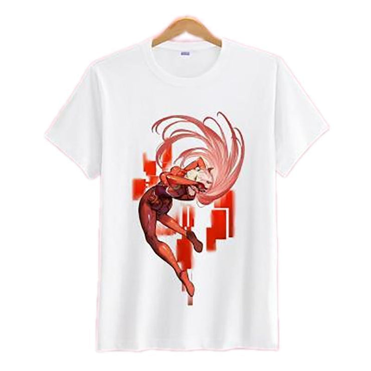 Anime Merchandise T-Shirt M Darling in the Franxx T-Shirt - Mid Action Zero Two T-Shirt