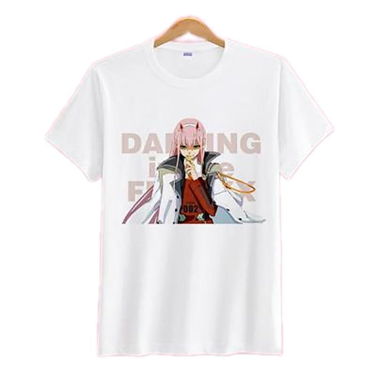 "Anime Merchandise T-Shirt M Darling in the Franxx T-Shirt - Zero Two ""Darling in the Franxx"" T-Shirt"