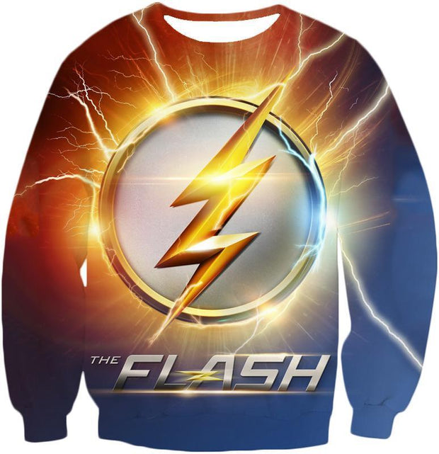 OtakuForm-OP Sweatshirt Sweatshirt / XXS DC Comics The Flash Symbol Sweatshirt - Superhero 3D Sweatshirts And Clothing Sweatshirt