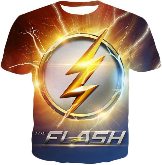 OtakuForm-OP T-Shirt T-Shirt / XXS DC Comics The Flash Symbol T-Shirt - Superhero 3D Shirts And Clothing T-Shirt