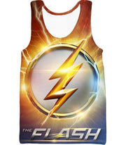 OtakuForm-OP T-Shirt Tank Top / XXS DC Comics The Flash Symbol T-Shirt - Superhero 3D Shirts And Clothing T-Shirt