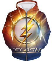 OtakuForm-OP Zip Up Hoodie Zip Up Hoodie / XXS DC Comics The Flash Symbol Zip Up Hoodie - Superhero 3D Zip Up Hoodies And Clothing Hoodie