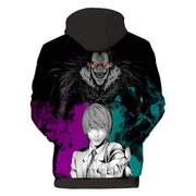 Death Note Hoodie XXS Death Note Light and Ryuk Smiling - Death Note Merchandise Hoodie