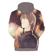 Death Note Hoodie XXS Death Note Light Yagami Hoodie - Death Note Merchandise Hoodie