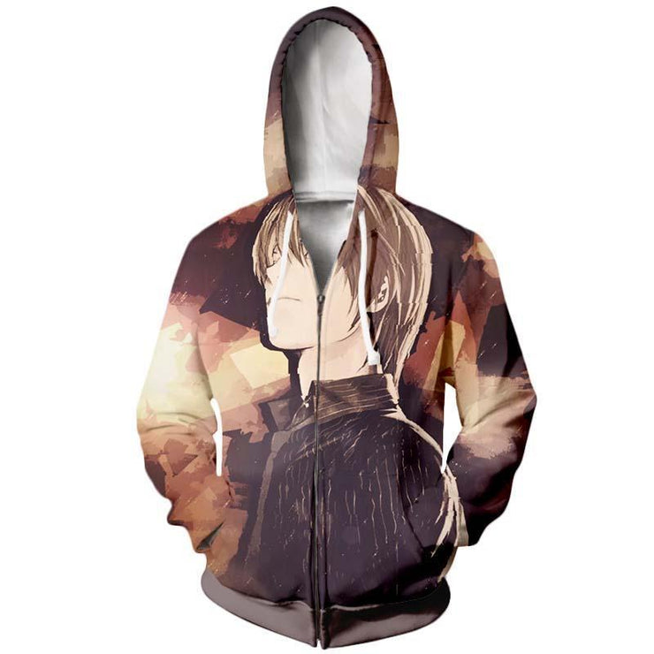Death Note Zip Up Hoodie XXS Death Note Light Yagami Zip Up Hoodie - Death Note Jacket Hoodie