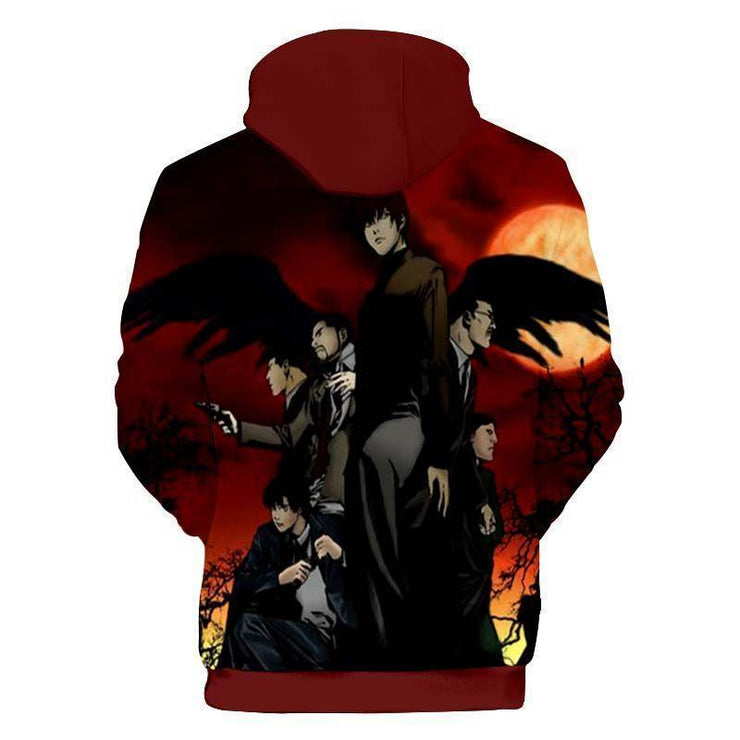 Death Note Hoodie XXS Death Note Yagami Manga  Zip Up Hoodie - Death Note Hoodie Jacket