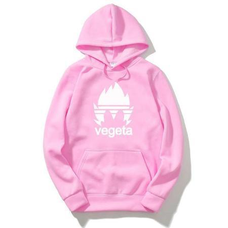 Anime Merchandise White on Pink / M Dragon Ball Hoodie - Vegeta Brand Logo (Various Colors) Pullover Hoodie
