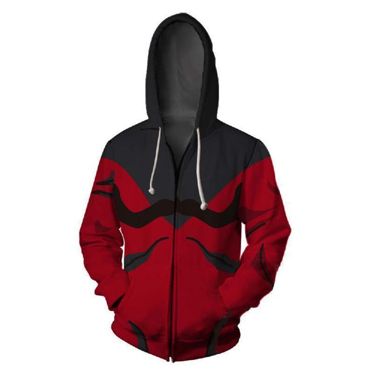 Dragon Ball Zip Up Hoodie XXS Dragon Ball Red & Black Jiren 3D Graphic Zip Up Hoodie