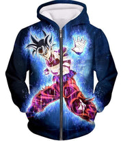 OtakuForm-OP Hoodie Zip Up Hoodie / XXS Dragon Ball Super Amazing Goku Ultra Instinct Power Cool Black Hoodie - Dragon Ball Hoodie