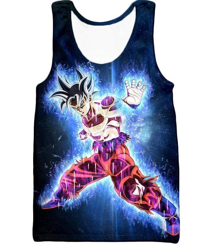 OtakuForm-OP Hoodie Tank Top / XXS Dragon Ball Super Amazing Goku Ultra Instinct Power Cool Black Hoodie - Dragon Ball Hoodie