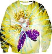 OtakuForm-OP Sweatshirt Sweatshirt / XXS Dragon Ball Super Amazing Super Saiyan 3 Caulifla Cool Action Anime Graphic Sweatshirt - Dragon Ball Super Sweater