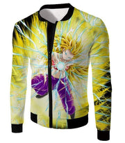 OtakuForm-OP Sweatshirt Jacket / XXS Dragon Ball Super Amazing Super Saiyan 3 Caulifla Cool Action Anime Graphic Sweatshirt - Dragon Ball Super Sweater