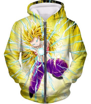 OtakuForm-OP Sweatshirt Zip Up Hoodie / XXS Dragon Ball Super Amazing Super Saiyan 3 Caulifla Cool Action Anime Graphic Sweatshirt - Dragon Ball Super Sweater