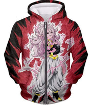 OtakuForm-OP Zip Up Hoodie Zip Up Hoodie / XXS Dragon Ball Super Android 21 Ultimate Evil Form Graphci Zip Up Hoodie - Dragon Ball Super Hoodie