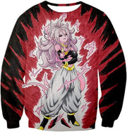 OtakuForm-OP Zip Up Hoodie Sweatshirt / XXS Dragon Ball Super Android 21 Ultimate Evil Form Graphci Zip Up Hoodie - Dragon Ball Super Hoodie