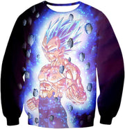 OtakuForm-OP Sweatshirt Sweatshirt / XXS Dragon Ball Super Awesome Hero Prince Vegeta Super Saiyan Blue Cool Sweatshirt - DBZ Clothing Sweater