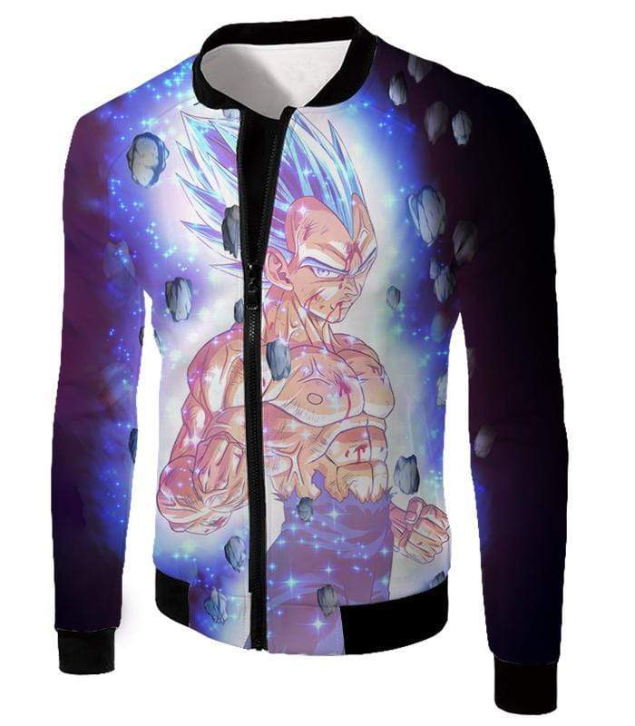 OtakuForm-OP Sweatshirt Jacket / XXS Dragon Ball Super Awesome Hero Prince Vegeta Super Saiyan Blue Cool Sweatshirt - DBZ Clothing Sweater