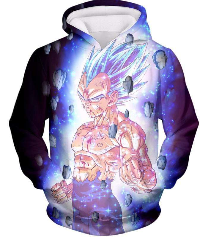 OtakuForm-OP Sweatshirt Hoodie / XXS Dragon Ball Super Awesome Hero Prince Vegeta Super Saiyan Blue Cool Sweatshirt - DBZ Clothing Sweater