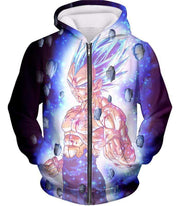 OtakuForm-OP Sweatshirt Zip Up Hoodie / XXS Dragon Ball Super Awesome Hero Prince Vegeta Super Saiyan Blue Cool Sweatshirt - DBZ Clothing Sweater