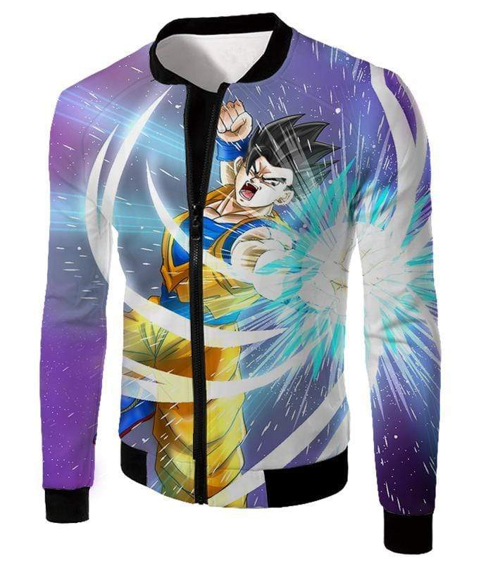 OtakuForm-OP Sweatshirt Jacket / XXS Dragon Ball Super Awesome Saiyan Hero Gohan Action Sweatshirt - DBZ Sweater