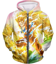 OtakuForm-OP Sweatshirt Zip Up Hoodie / XXS Dragon Ball Super Awesome Super Saiyan 3 Goku Graphic Sweatshirt