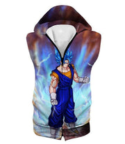 OtakuForm-OP Sweatshirt Hooded Tank Top / XXS Dragon Ball Super Awesome Vegito Super Saiyan Blue Anime Sweatshirt