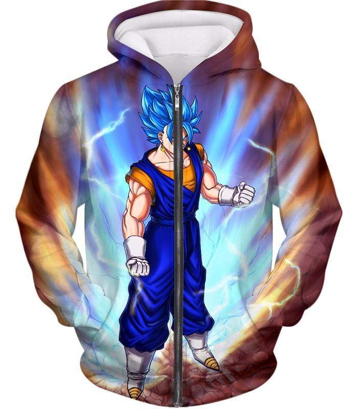 OtakuForm-OP Sweatshirt Zip Up Hoodie / XXS Dragon Ball Super Awesome Vegito Super Saiyan Blue Anime Sweatshirt