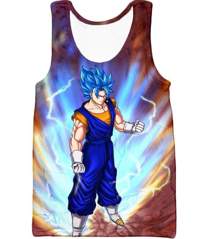 OtakuForm-OP Sweatshirt Tank Top / XXS Dragon Ball Super Awesome Vegito Super Saiyan Blue Anime Sweatshirt