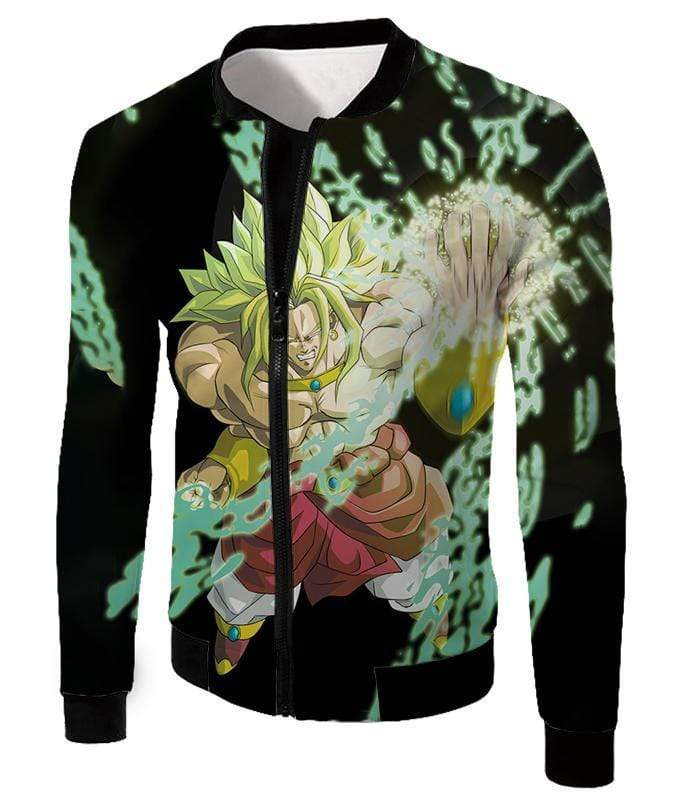 OtakuForm-OP Sweatshirt Jacket / XXS Dragon Ball Super Broly the Legendary Super Saiyan Action Black Sweatshirt