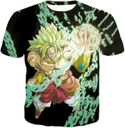 OtakuForm-OP Sweatshirt T-Shirt / XXS Dragon Ball Super Broly the Legendary Super Saiyan Action Black Sweatshirt
