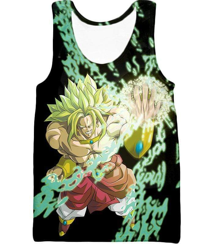 OtakuForm-OP Sweatshirt Tank Top / XXS Dragon Ball Super Broly the Legendary Super Saiyan Action Black Sweatshirt