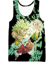 OtakuForm-OP Zip Up Hoodie Tank Top / XXS Dragon Ball Super Broly the Legendary Super Saiyan Action Black Zip Up Hoodie