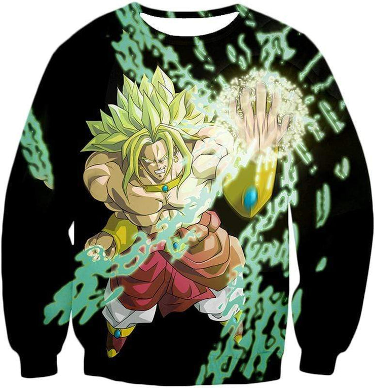 OtakuForm-OP Zip Up Hoodie Sweatshirt / XXS Dragon Ball Super Broly the Legendary Super Saiyan Action Black Zip Up Hoodie