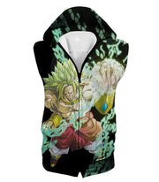 OtakuForm-OP Zip Up Hoodie Hooded Tank Top / XXS Dragon Ball Super Broly the Legendary Super Saiyan Action Black Zip Up Hoodie