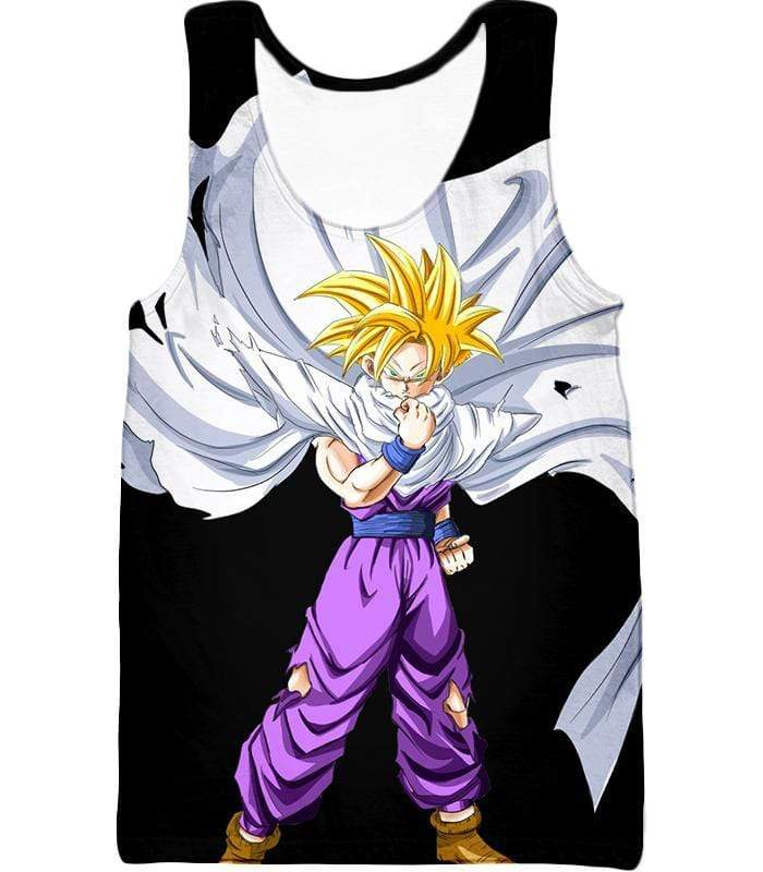 OtakuForm-OP Zip Up Hoodie Tank Top / XXS Dragon Ball Super Cool Gohan Full Super Saiyan Black Zip Up Hoodie - DBZ Hoodie