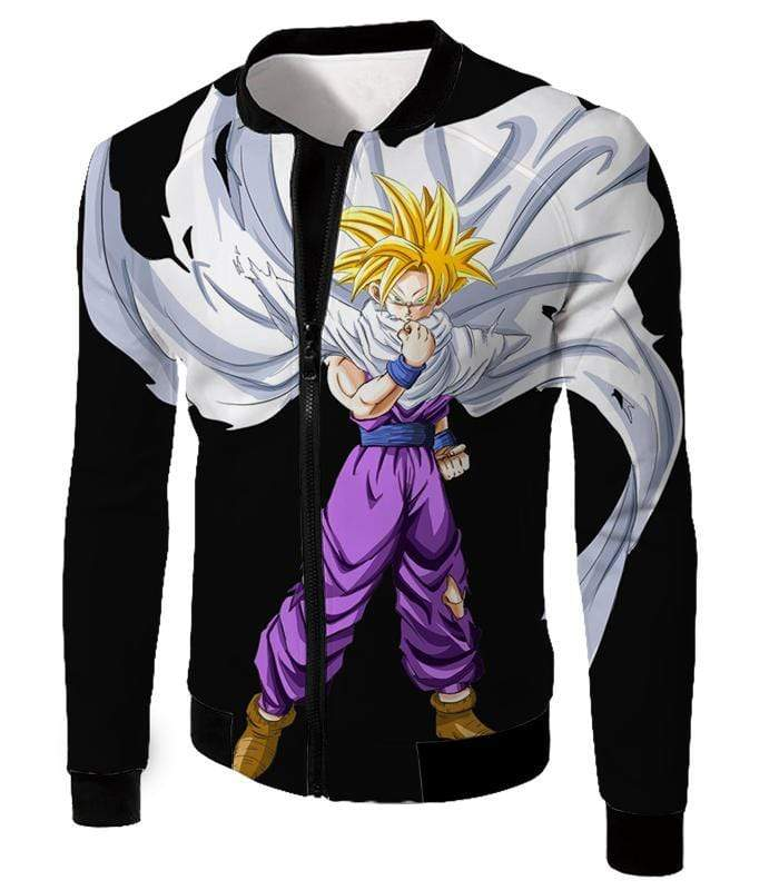 OtakuForm-OP Zip Up Hoodie Jacket / XXS Dragon Ball Super Cool Gohan Full Super Saiyan Black Zip Up Hoodie - DBZ Hoodie