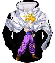 OtakuForm-OP Zip Up Hoodie Hoodie / XXS Dragon Ball Super Cool Gohan Full Super Saiyan Black Zip Up Hoodie - DBZ Hoodie