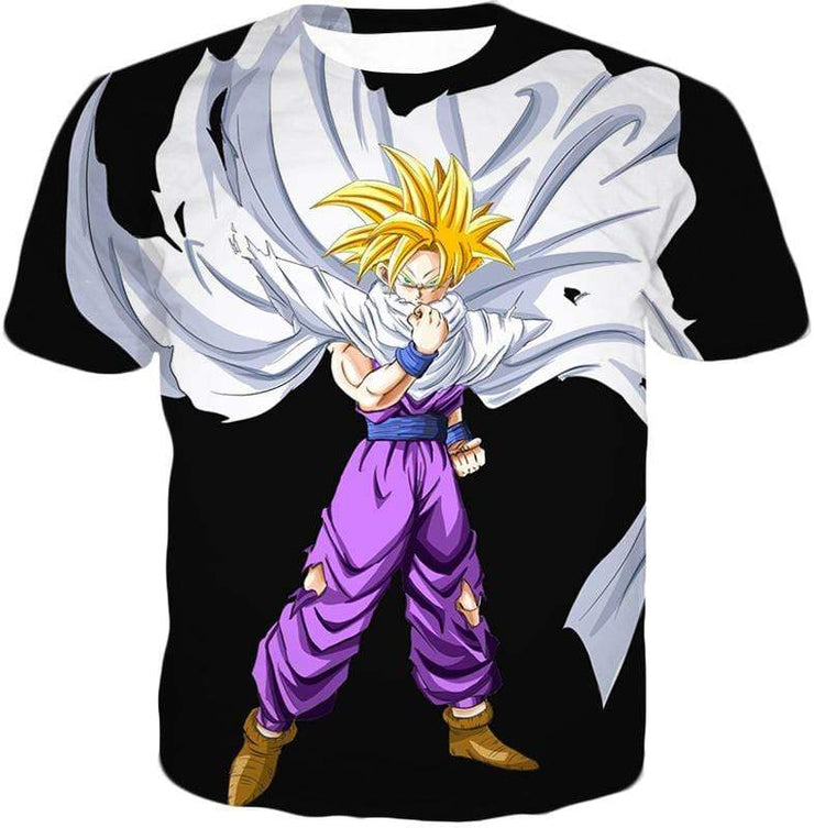 OtakuForm-OP Zip Up Hoodie T-Shirt / XXS Dragon Ball Super Cool Gohan Full Super Saiyan Black Zip Up Hoodie - DBZ Hoodie