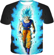 OtakuForm-OP T-Shirt T-Shirt / XXS Dragon Ball Super Cool Goku Super Saiyan Blue Awesome Anime Black T-Shirt