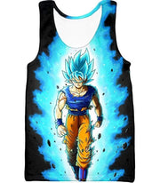 OtakuForm-OP T-Shirt Tank Top / XXS Dragon Ball Super Cool Goku Super Saiyan Blue Awesome Anime Black T-Shirt