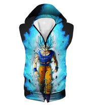 OtakuForm-OP T-Shirt Hooded Tank Top / XXS Dragon Ball Super Cool Goku Super Saiyan Blue Awesome Anime Black T-Shirt
