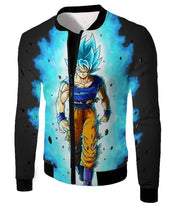 OtakuForm-OP T-Shirt Jacket / XXS Dragon Ball Super Cool Goku Super Saiyan Blue Awesome Anime Black T-Shirt