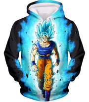 OtakuForm-OP T-Shirt Hoodie / XXS Dragon Ball Super Cool Goku Super Saiyan Blue Awesome Anime Black T-Shirt
