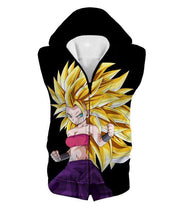 Dragon Ball Super Cool Saiyan Caulifla Super Saiyan 3 Black Sweatshirt - Dragon Ball Z Sweater