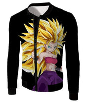 OtakuForm-OP Sweatshirt Jacket / XXS Dragon Ball Super Cool Saiyan Caulifla Super Saiyan 3 Black Sweatshirt - Dragon Ball Z Sweater