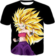 OtakuForm-OP Sweatshirt T-Shirt / XXS Dragon Ball Super Cool Saiyan Caulifla Super Saiyan 3 Black Sweatshirt - Dragon Ball Z Sweater