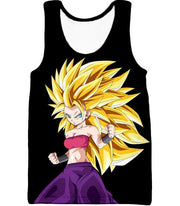 OtakuForm-OP Sweatshirt Tank Top / XXS Dragon Ball Super Cool Saiyan Caulifla Super Saiyan 3 Black Sweatshirt - Dragon Ball Z Sweater